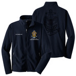 Nat Council - Sea Scouts Logo - Emb - F217 - Fleece Jacket with Laser Etched Back