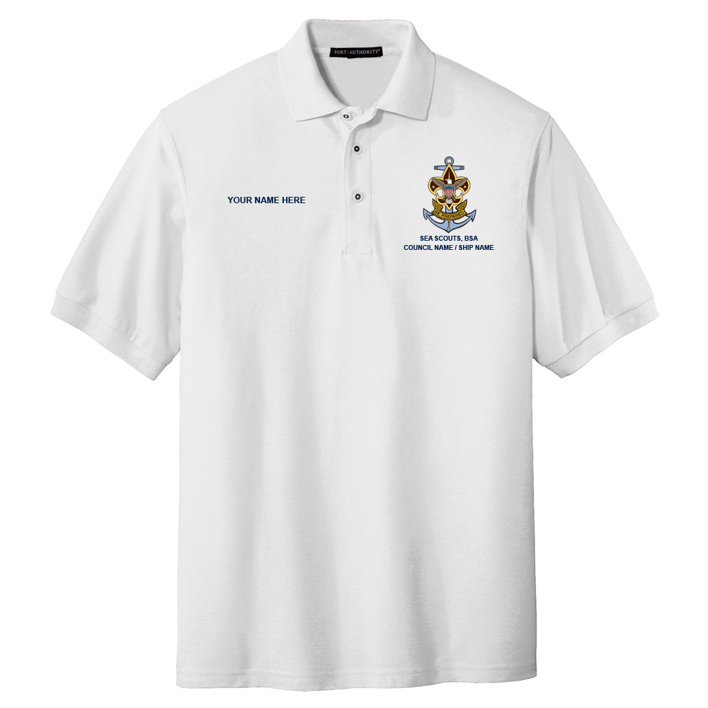 600263b7683d Nat Council - Sea Scouts Logo - Emb - K500 - Pique Polo - Sea Scouts - SG  Trading Post